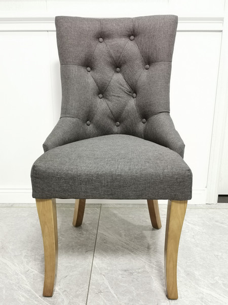 Mordern grey fabric dining chair