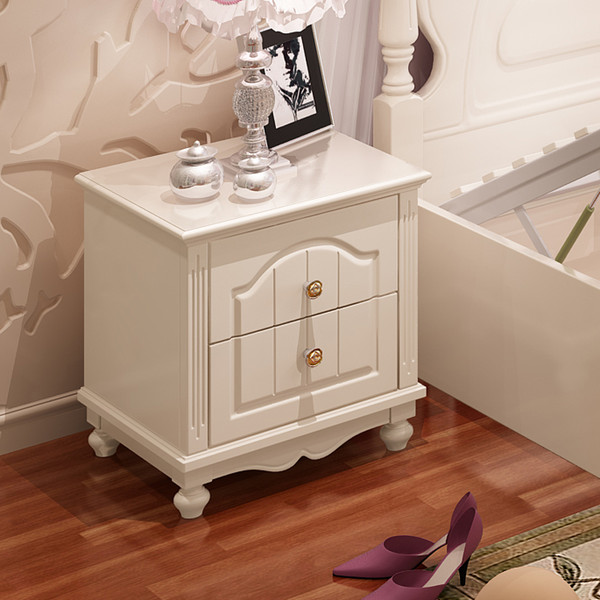 French desing Bedside table white