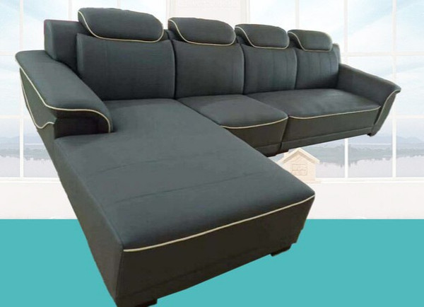 Corner Simulation leathe Lounge 3.5 seats + chaise  360X190cm
