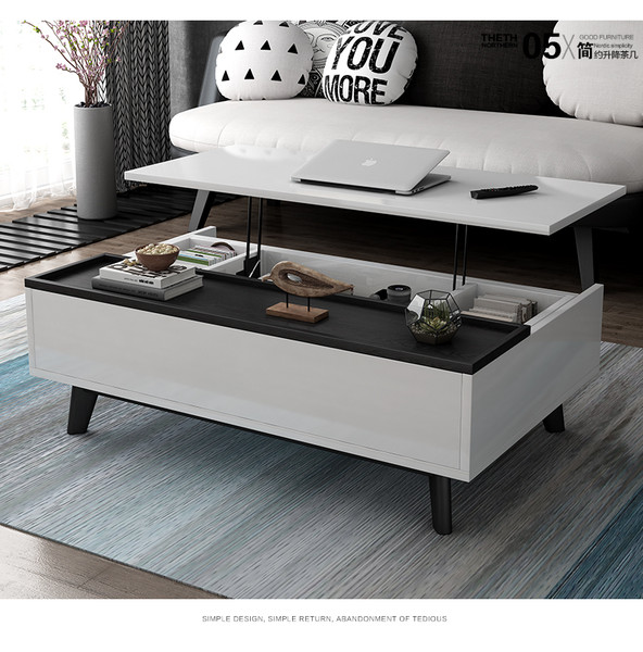 Lift top multi-function Coffee tea table 1.2M