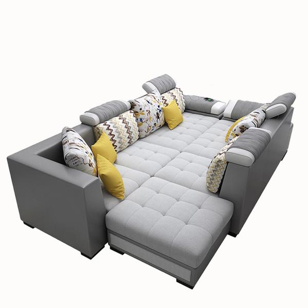 U shape fabric Modular Chaise Lounge 1.8x3.6x2.4 metres, with 4 kid's chairs