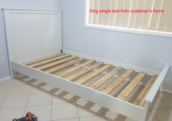"""Timber white single size bed """"Hayman"""""""