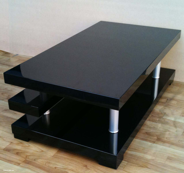 Gloss black coffee table