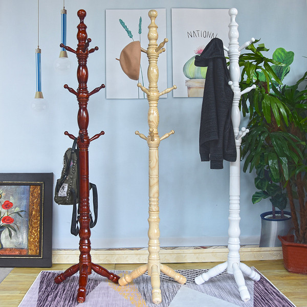 Housewares Standing Coat and Hat Rack Wooden Creative Hanger