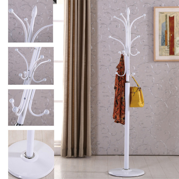 Coat Rack Metal Tree Hat Hanger with Round Base and 12 Hooks (high:175cm)