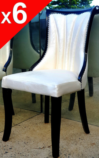 crocodile print look dining chair