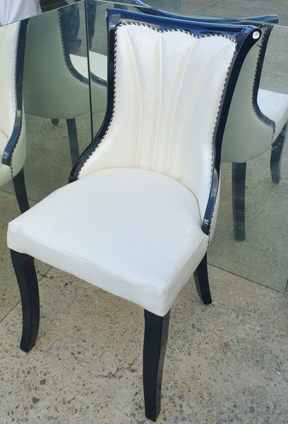 6 crocodile print leather look  dining chair