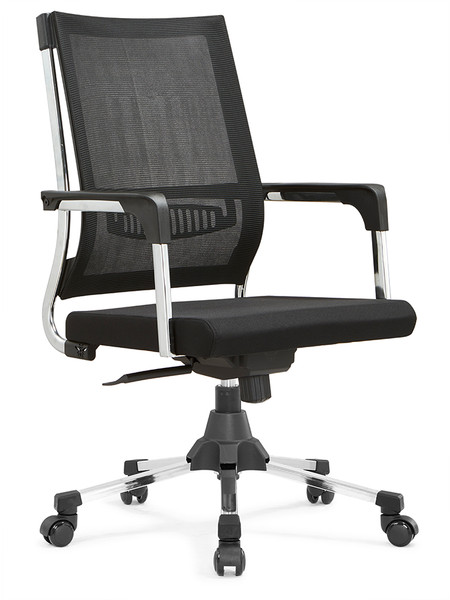 Office Chair Lumbar Support Mesh Chair Computer Desk Task Chair with Armrests