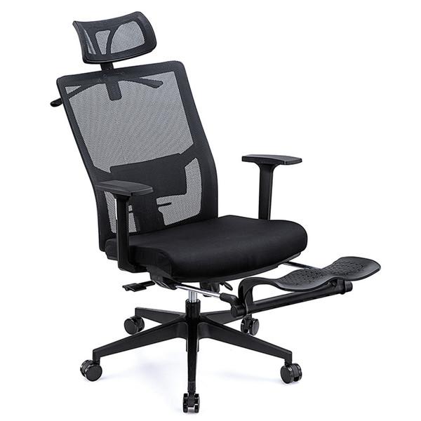 Ergonomic Office Chair High Back Adjustable Mesh Recliner Footrest and Coat Hanger