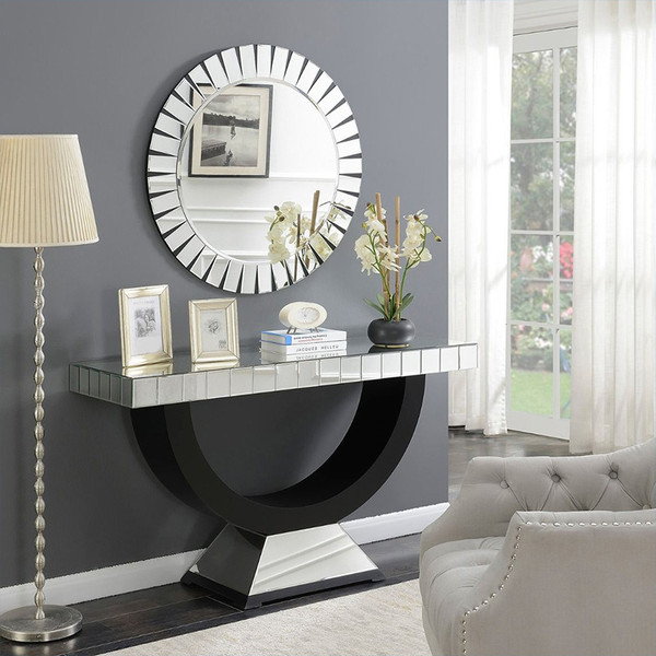 Artiss Hallway Console Table Mirrored Bedroom Dressing Table(AS087+B004)
