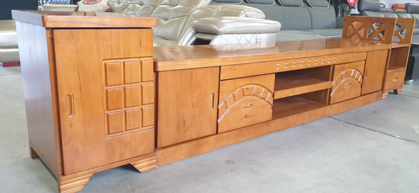 Last Floor displaying model sale,solid hardwood 3 metres combo TV unit