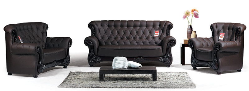 cheap brown leather lounges