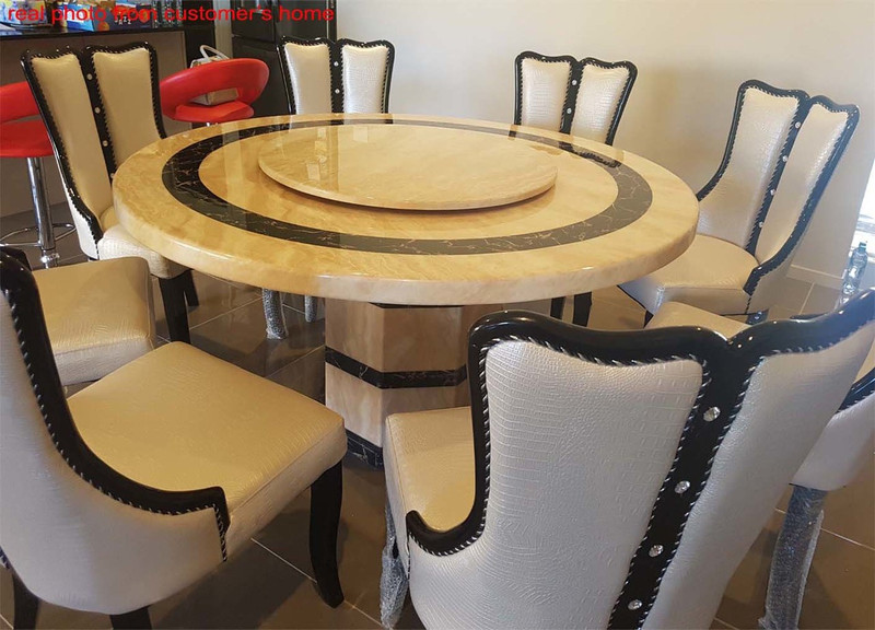 Echeap marble dining table