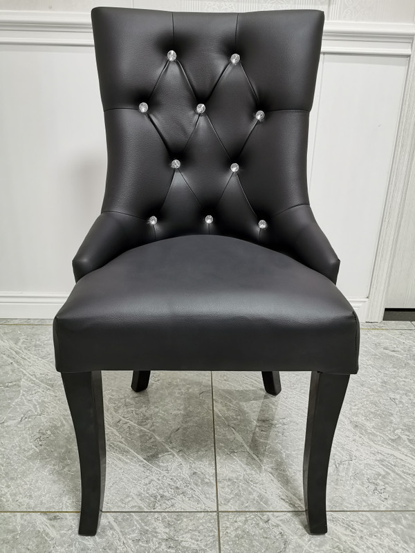 Mordern black Leather look dining chair