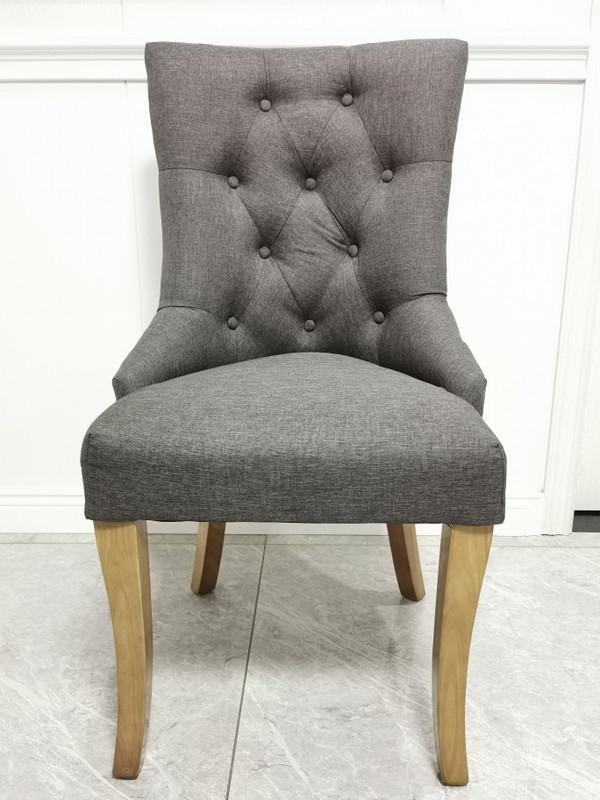 Mordern grey fabric dining chair