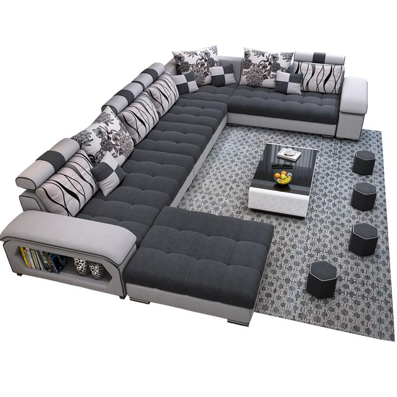 U shape fabric Modular Chaise Lounge 1.8x3.6x2.4 metres