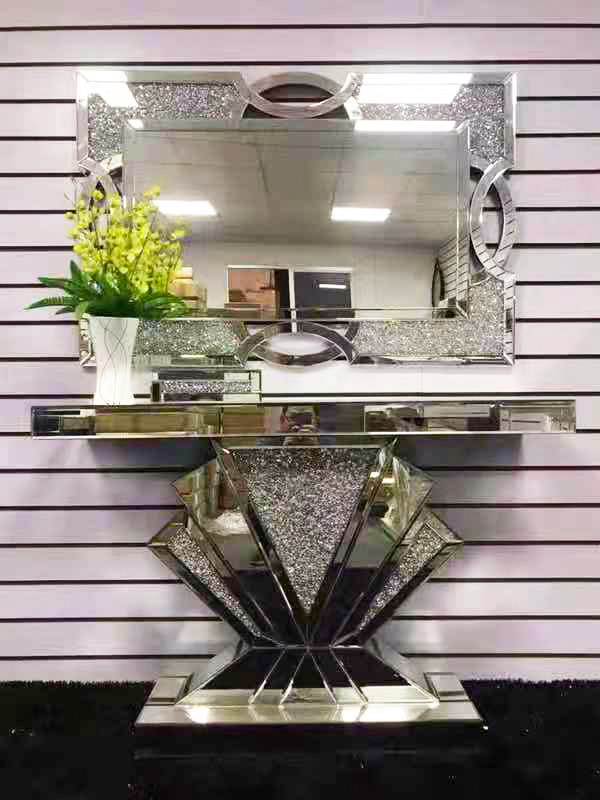Artiss Hallway Console Table Mirrored Bedroom Dressing Table(B028))
