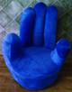 Blue hand chair