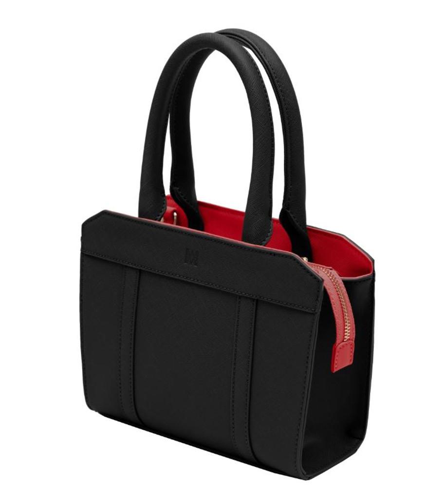 Marsi Bond Audrey Mini Vegan Leather Crossbody Tote - Black 1a1f7082696f2