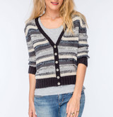 Wooden Ships Jojo Cardigan in Black