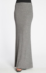 Bobeau Sweater Maxi Skirt in Heather Grey