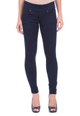 Lola Jeans Anna Pull On Skinny - Over Dye Blue