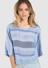 Bella Dahl  3/4 Sleeve Tie Back Top