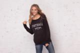 Wooden Ships Football Mom Crewneck Sweater