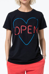 Open Heart Classic Tee in Black by The Laundry Room