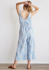 Bella Dahl Button Front Crop Leg Jumpsuit - Palm Print