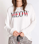 PJ Salvage Wild Heart Long Sleeve Meow Top