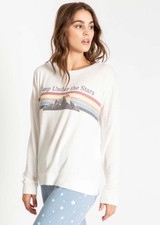 PJ Salvage GONE Napping Long Sleeve Top - Sleep Under the Stars