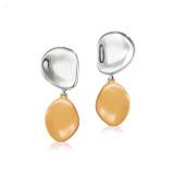 Jennybird Mithras Earrings - Silver/Camel