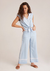 Bella Dahl Pocket Front Wide Leg Crop Pant - Sunseams Wash