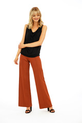 Veronica M Ponti Wide Leg Pant - Copper