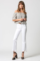 Hidden Jeans Happi High Rise Crop Flare - White
