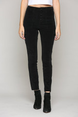Hidden Jeans Taylor High Rise Skinny  - Black Corduroy