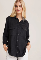 Bella Dahl Flap Pocket Button Down - Midnight