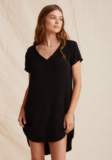 V-Neck Dress in Vintage Black