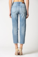 Hidden Jeans Zoey Button Fly Mom Jean - Medium Blue
