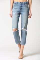 Hidden Jeans Zoey Button Fly Mom Jean - Medium Blue