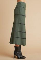 Bella Dahl Bias Midi Skirt - Tie Dye Cactus