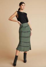 Bias Midi Skirt - Tie Dye Cactus