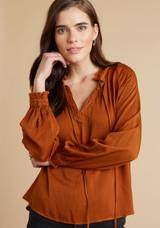 Bella Dahl Ruffle Raglan Pullover - Amber