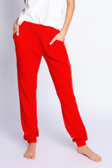 Morning Waffles Banded Pant - Red