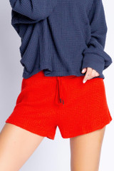 PJ Salvage Morning Waffles Short - Red