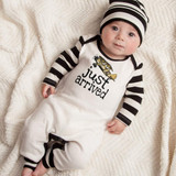 Baby Boy New Arrival Romper with Cap