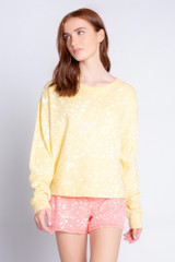 Flick Of A Brush Long Sleeve Top- Sunshine