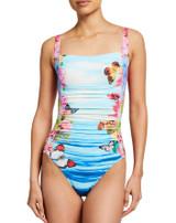 Costa Azul Bandeau  One Piece Swimsuit