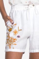 Elia Linen Short - White